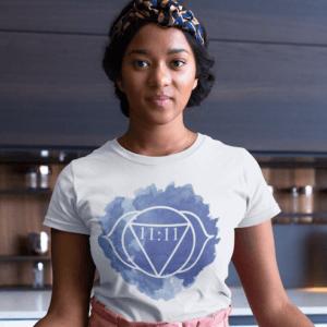 Woman wearing 11:11 shirt